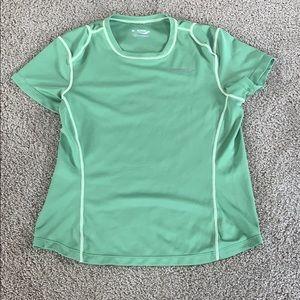Green athletic tee shirt